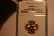 1996 Canada Cent NGC MS66 RED