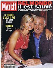COUVERTURE DE MAGAZINE PARIS MATCH 2769 20/06/02 Jean Paul Belmondo