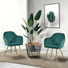 A Pair Of Modern Velvet Dining Chairs Leisure Armchair Living Room Furniture Us