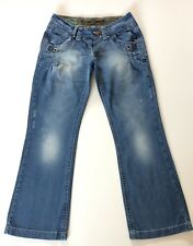 RIVER ISLAND SLOUCH  BLUE JEANS SZ 8 L 32   IMMACULATE  STRETCH