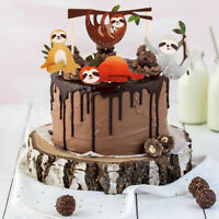 4 Pcs/set Cute Cake Picks Sloth Cupcake Party Decoration Cake Topper Decor Nice
