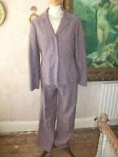 Ladies 2 piece Mauve wool trouser suit by Stefanel