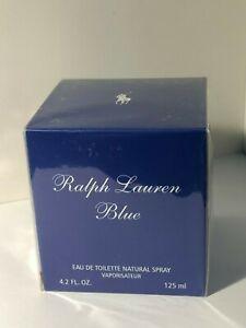 Ralph Lauren Blue Women Perfume Eau De Toilette Spray 4.2 oz /125 ml Sealed Box