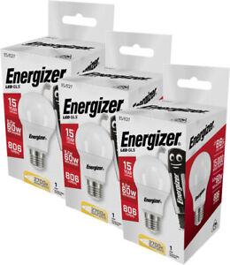 Energizer LED GLS Edison Screw (ES) Opal - 8.2w = 60w Warm White 2700K - 3 Pack