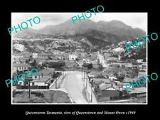OLD LARGE HISTORIC PHOTO OF QUEENSTOWN TASMANIA PANORAMA OF THE TOWN c1910 1