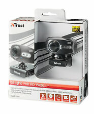 TRUST 17676 ELIGHT WEBCAM, INTEGRATED MICROPHONE, LIGHTS + DIMMER, CLIP