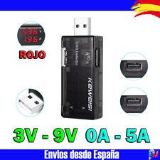 Tester USB Voltimetro Amperimetro Detector de Carga para movil Cargador Bateria