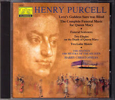 PURCELL Love's Goddess Sure Was Blind Funeral THE SIXTEEN Harry Christophers CD