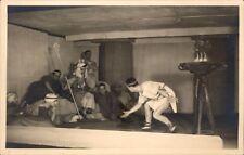 Photo-carte scène pièce de théatre antiquité personnages animée roi feu