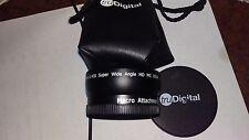 truDigital 58mm 0.45x Super Wide Angle HD MC DSLR Lens Macro Attachment