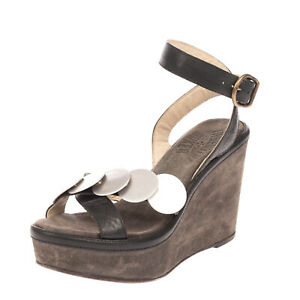 RRP €250 FIORENTINI+BAKER Leather Ankle Strap Sandals Size 36 UK 3 US 6 Wedge
