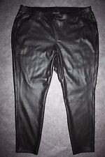 LANE BRYANT NEW Black Crackle Coated Pull-On Stretch Skinny Pants Leggings 26