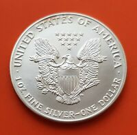 USA 1 DOLLAR 2002 EAGLE UNC SILVER coin LIBERTY TROY OZ 999 Estados Unidos Onza