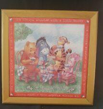 Disney Winnie the Pooh Tile Trivet Sweeter w/ Hunny Piglet Eeyore Tigger Hanging