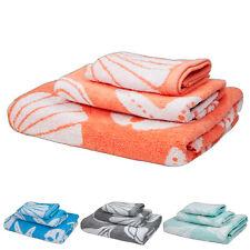 3 Piece Bathroom Towel Set - Seashell Ocean Beach Pattern - Color Options - Soft