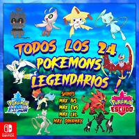 Pokémon Sword & Shield ⚔ todos los pokemon legendarios! 🔥 brillante ✨! 6IV!