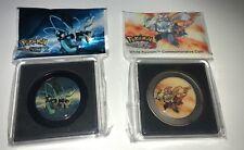 Pokemon WHITE / BLACK KYUREM Commemorative Coin Set 2 Promo 2012 Version Sealed