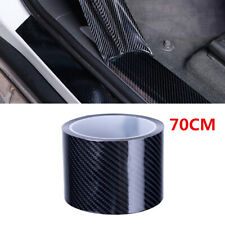 7CM Carbon Style Strip Tape Car Side Mirror Door Step Edge Scratch Sticker 10M