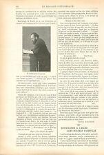 Bauderon de Vermeron/Église Saint-Vulfran d'Abbeville GRAVURE ANTIQUE PRINT 1899