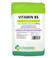 Vitamin B-5 500mg 1-a-day 2-PACK 180 tablets Pantothenic Acid B5 Brain Energy
