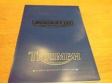 Triumph Rocket three poster Full range Sales Brochure motorcycle Bike