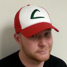 Ash Ketchum Adult Baseball Cap Original Hat Pokemon Trainer Cosplay Costume Go L