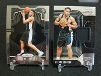 2019-20 Panini Prizm Keldon Johnson Rookie & Sensational Swatch Jersey Spurs RC