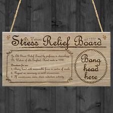 Dr Watson's Stress Relief Board Plaque Novelty Wooden Sign Hanging Funny Gift