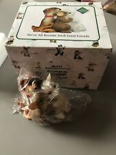 Charming Tails We'Ve All Become Such Good Friends Figurine Mouse Dog Cat