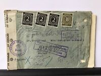 Germany 1947 British Zone censor letter & multi stamps cover Ref R28171