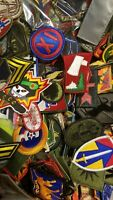 Lot of 6 Assorted U.S. Army Unit Insignia Flash & Oval Military Patches