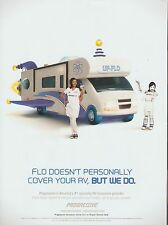 "FLO - RV ""UF-Flo"" Progressive Insurance advertisement - 2016 magazine print ad"