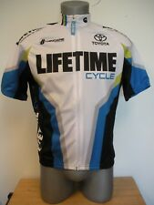 New Lifetime Cycle Hincapie Sportswear Biking Cycling Zip Up Jersey Small S