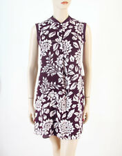 Theory Loreese Sleeveless A Line Silk Dress Floral Meadow S $345 8239 Minor Flaw