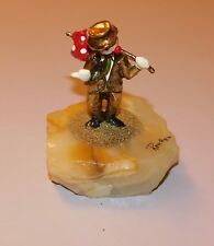 1986 Ron Lee Clown Sculpture Hobo Hitchhiking #267 24Kt Gold - Please Read