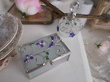 Mackintosh Botella de Perfume Cristal Art Deco Rose Libélula & Joyas Caja