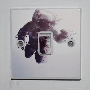 Astronaut Light Switch Sticker - Bedroom / Garage / Shed