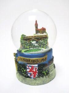 Luxemburg Snow Ball Snowglobe 9,5 CM, Souvenir, Pont Adolphe, Luxembourg