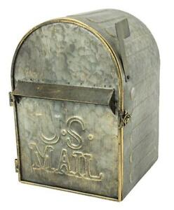 Large Metal Wall Mount Mailbox w/ Slot and Full Front Access Via Hinged Door