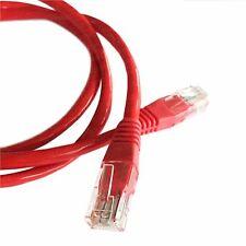 5M (16.4ft) red Ethernet Cable Cat5e RJ45 Red LAN Parche Plomo de cobre de 100%