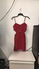 Steppin Out Red Womens Size Medium Cut-Out Waist Sheath Dress