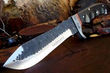 Hammered D2 Steel Tactical Jungle Bush Knife Stout 6 Mm Full Tang Z2