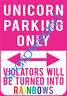 Metal Tin Sign unicorn parking only Decor Pub Bar Home Vintage Retro