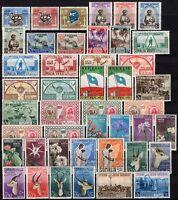 Somalia AFIS - Lotto di 44 francobolli, 1952/55 - Linguellati (* MH)