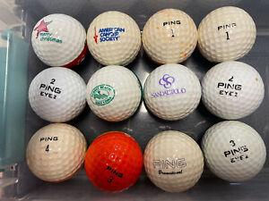 12 Ping Golf Balls