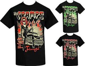 The Cramps Mens Psychobilly T-Shirt Vince Ray Poison Ivy Dodge Custom Royal