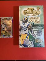 2000 Topps Gold Label HOBBY Football Pack- Rare Rookies and cards. (1) pack 🔥