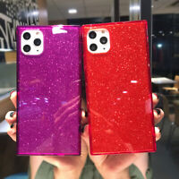 Bling Square Clear Soft TPU Case Cover For iPhone 11 Pro Max XS XR 7 8 Plus SE 2