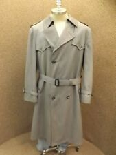 Classy Upscale Dior Gray Wool Blend Zip Out Liner Mens Trench Coat 40-42R Nice!