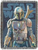 314Star Wars: The Mandalorian 'Alone' Metallic Woven Tapestry Throw Blanket